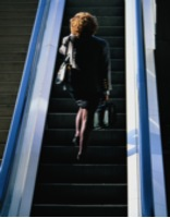 legs on escalator