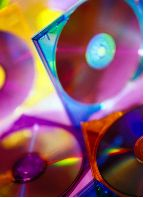 neon colored cds