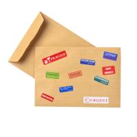 Envelope with overseas stickers