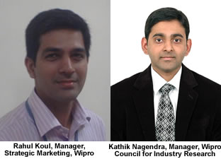 Rahul Koul, Manager, Strategic Marketing, and Kathik Nagendra, Manager, Wipro Council for Industry Research