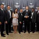Dex One and HCL accepting 2013 Outsourcing Excellence Award