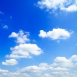 Blue sky and clouds, cloud computing