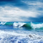 waves breaking on shore, cloud computing